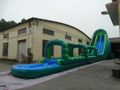 30FT Green Inflatable Water Slide