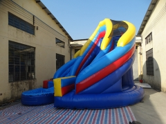 20ft Curve Inflatable Water Slide